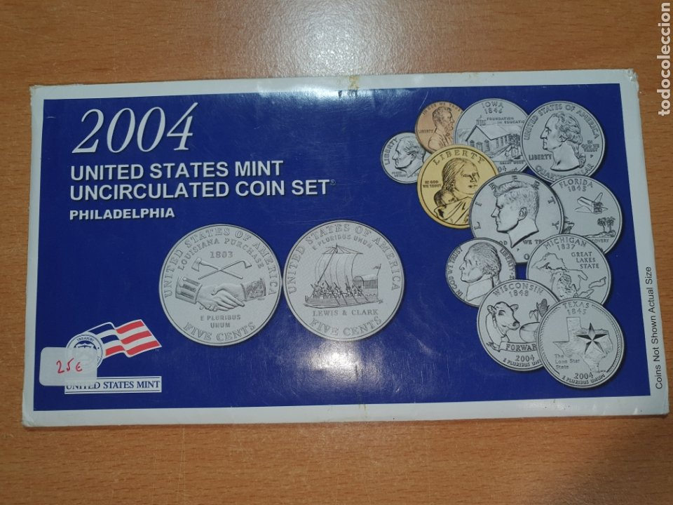 2004 UNITED STATES MINT UNCIRCULATED COIN SET PHILADELFIA (Numismática - Extranjeras - América)