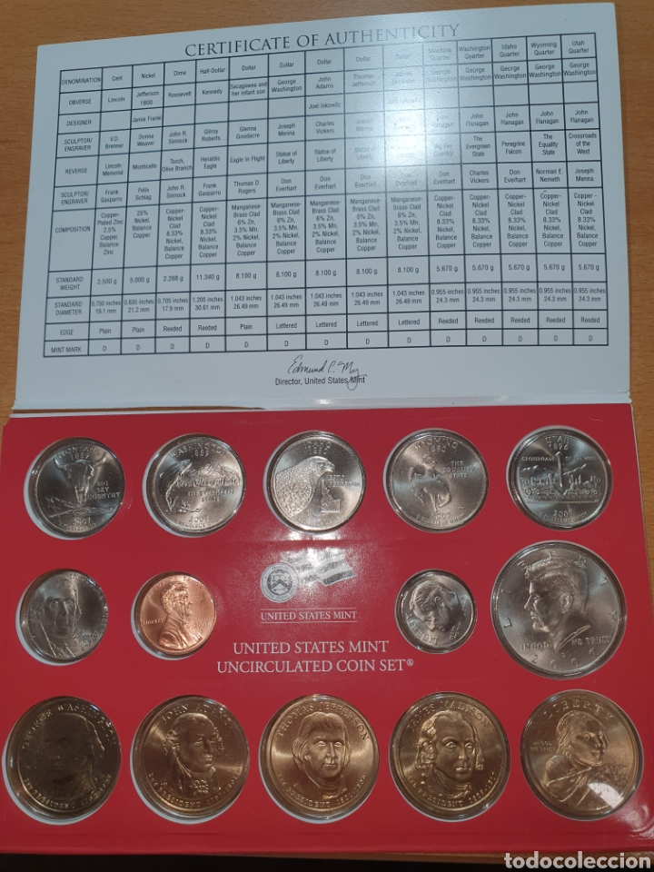 Monedas antiguas de América: 2007 denver united states mint uncirculated coin set - Foto 2 - 224774137