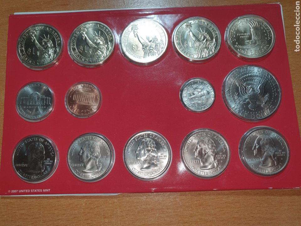 Monedas antiguas de América: 2007 denver united states mint uncirculated coin set - Foto 3 - 224774137