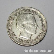 Monedas antiguas de América: 662,, MONEDA DE LA REPÚBLICA ORIENTAL DEL URUGUAY. 1 PESO DE PLATA . AÑO 1942 - ARTIGAS / PUMA. Lote 224795716