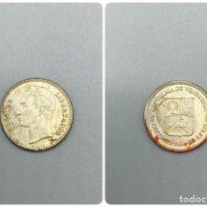 Monnaies anciennes d'Amérique: MONEDA. VENEZUELA. BOLIVAR. 50 CENTIMOS. 1954. PLATA. VER FOTOS. Lote 224833097