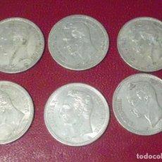 Monedas antiguas de América: 6 MONEDAS VENEZUELA 1 BOLIVAR 1960 . PLATA .MONEDA ORIGINAL CON PÁTINA NATURAL( 30 GRAMOS). Lote 225181596