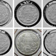 Monedas antiguas de América: CHILE LOTE DE 6 MONEDAS DE PLATA PRINCIPIOS SIGLO XX. Lote 225201365