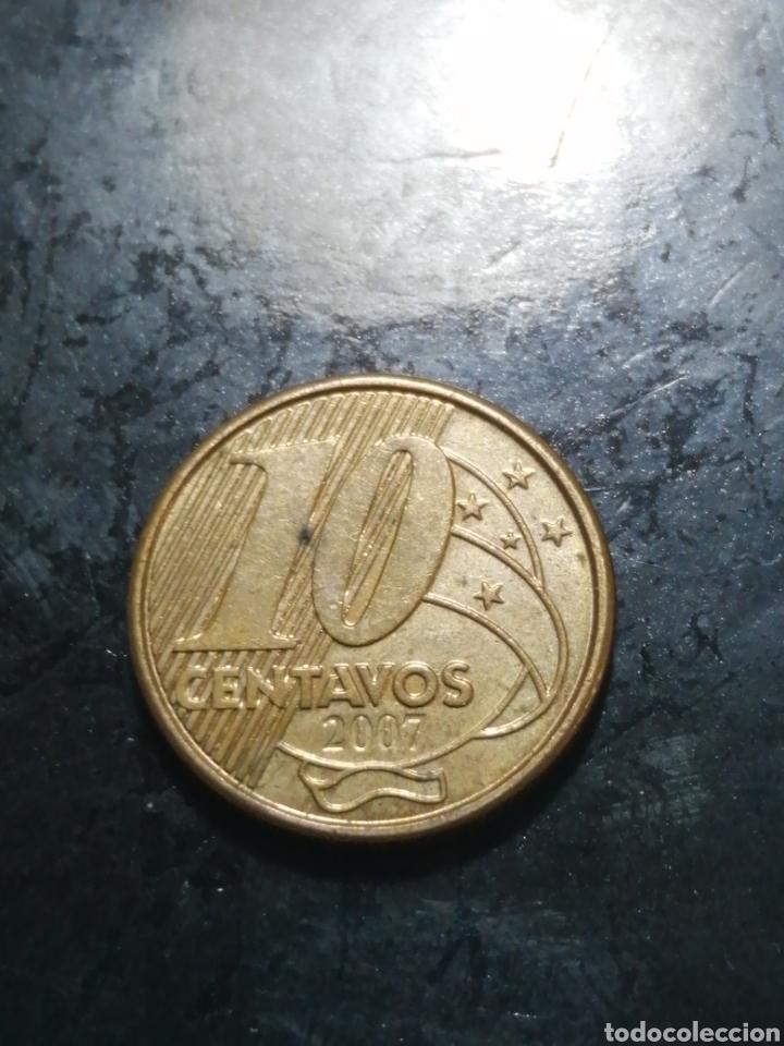 10 CENTAVOS DE 2007 BRASIL (Numismática - Extranjeras - América)