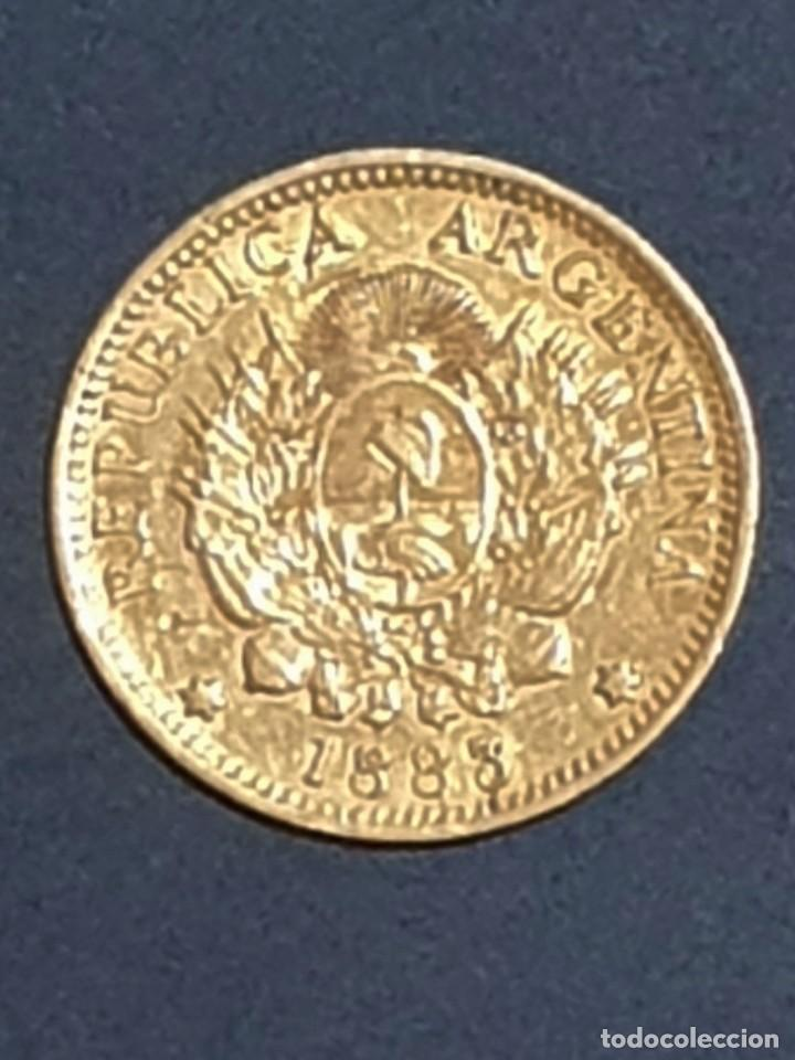 ORO 5 PESOS, UN ARGENTINO 1883 ORO GOLD KM 31 (Numismática - Extranjeras - América)
