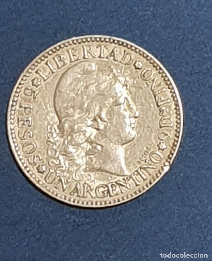 Monedas antiguas de América: ORO 5 PESOS, UN ARGENTINO 1883 ORO GOLD KM 31 - Foto 2 - 226111743