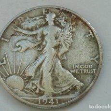 Monedas antiguas de América: MONEDA DE PLATA DE MEDIO DOLAR DE ESTADOS UNIDOS DE 1941 D , CECA DE DENVER, 1/2. Lote 226575330