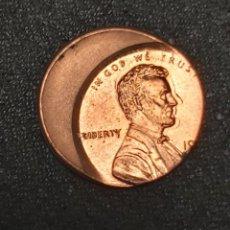 Monete antiche di America: ERROR MUY RARO: ESTADOS UNIDOS 1 CENT MUY DESPLAZADO. Lote 226652305
