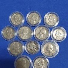 Monedas antiguas de América: 12 MONEDAS DE EEUU.. Lote 227075765