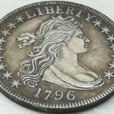 Monedas antiguas de América: RÉPLICA MONEDA 1796. 1/2 DÓLAR. ESTADOS UNIDOS DE AMÉRICA. USA. CANTO LABRADO. RARA. Lote 227587800