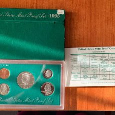 Monedas antiguas de América: SET PROOF DE PLATA ESTADOS UNIDOS 1995. CON CERTIFICADO.. Lote 227723590