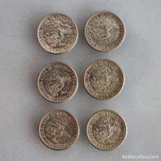 Monnaies anciennes d'Amérique: 6 MONEDAS PLATA 10 CENTAVOS CUBA. 1952. Lote 229059880
