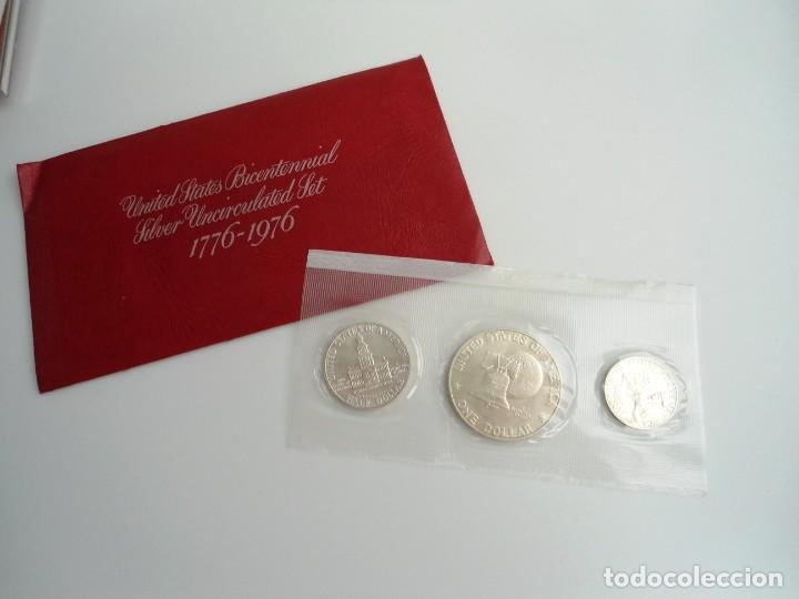 ESTADOS UNIDOS USA - SILVER BICENTENNIAL 1776-1976 - SILVER UNCIRCULATED SET 1976 - SIN CIRCULAR (Numismática - Extranjeras - América)