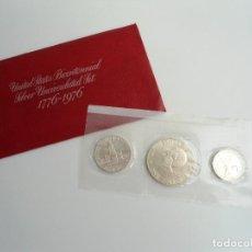 Monedas antiguas de América: ESTADOS UNIDOS USA - SILVER BICENTENNIAL 1776-1976 - SILVER UNCIRCULATED SET 1976 - SIN CIRCULAR. Lote 229214285