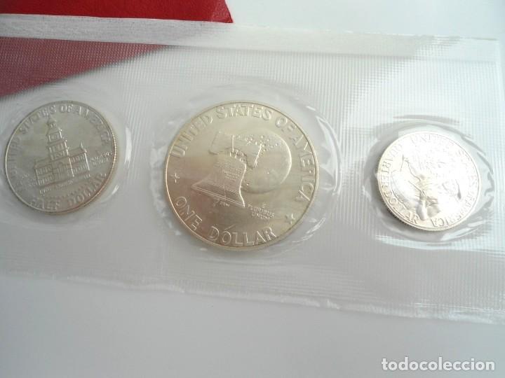 Monedas antiguas de América: ESTADOS UNIDOS USA - SILVER BICENTENNIAL 1776-1976 - SILVER UNCIRCULATED SET 1976 - SIN CIRCULAR - Foto 2 - 229214285