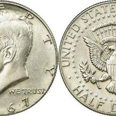 Monedas antiguas de América: E.E.U.U. (USA) 1/2 DOLAR (DOLLAR) PLATA 1967 KENNEDY S/C-. Lote 229520325