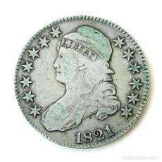 Monedas antiguas de América: 50 CENTAVOS DE 1/2 DOLAR DE PLATA. 1821. FILADELFIA. USA. Lote 269032590
