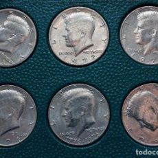 Monedas antiguas de América: LOTE 16 MONEDAS 1/2 DOLAR DEL PRESIDENTE KENNEDY, VARIOS AÑOS ENTRE 1971 Y 1990, INDICANDO LAS CECAS. Lote 230565690