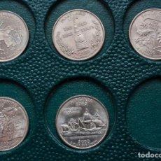 Monedas antiguas de América: LOTE 5 MONEDAS 1/4 DOLAR PRESIDENTE GEORGE WASHINGTON DE 2000. Lote 230623930