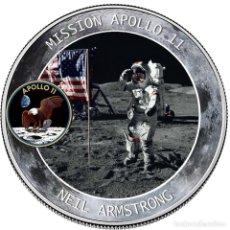 Monedas antiguas de América: MONEDA SOUVENIR DEL ANIVERSARIO DE LA MISION APOLO XI. Lote 230651215
