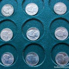 Monedas antiguas de América: LOTE 9 FIVE CENTS 5 CÉNTIMOS DE DOLAR USA, ENTRE LOS AÑOS 1964 Y 1990, INDICANDO LA CECA. Lote 230765175