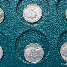 Monedas antiguas de América: LOTE 16 FIVE CENTS 5 CÉNTIMOS DE DOLAR USA, ENTRE LOS AÑOS 1947 Y 1990, INDICANDO LA CECA. Lote 230768700