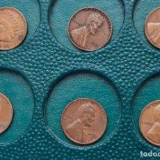 Monedas antiguas de América: LOTE 35 MONEDAS ONE CENT - 1 CENTAVO DOLAR USA ENTRE LOS AÑOS 1904 Y 1995. Lote 230771910