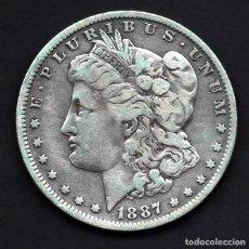 Monedas antiguas de América: DOLAR USA (ESTADOS UNIDOS) DE PLATA 1887 O (NUEVA ORLEANS). Lote 230822855