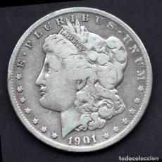 Monedas antiguas de América: DOLAR USA (ESTADOS UNIDOS) DE PLATA 1901 FILADELFIA. Lote 230825370