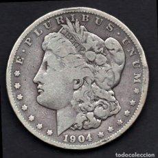 Monedas antiguas de América: DOLAR USA (ESTADOS UNIDOS) DE PLATA 1904 FILADELFIA. Lote 230831970