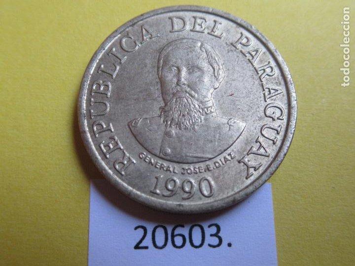 PARAGUAY 100 GUARANIES, 1990 CUPRONIQUEL Y ANCHO DEL CANTO MAYOR QUE EN FECHAS SUCESIVAS (Numismática - Extranjeras - América)