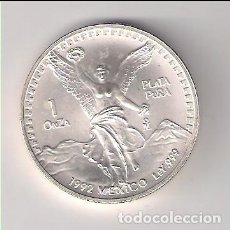 Monedas antiguas de América: MONEDA DE ONZA DE 1992 DE MÉJICO. PLATA. SIN CIRCULAR- WORLD COINS-KM 494.3 (ME1413). Lote 204700146