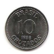 Monedas antiguas de América: LOTE DE CRUZADOS BRASILEIROS - AÑO 1988. Lote 231556395