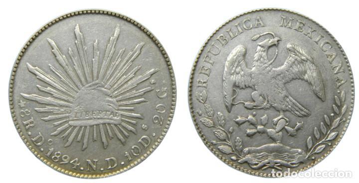 MEXICO 8 RELAES 1894 DURANGO ND (Numismática - Extranjeras - América)