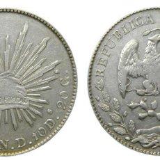 Monedas antiguas de América: MEXICO 8 RELAES 1894 DURANGO ND. Lote 232459540
