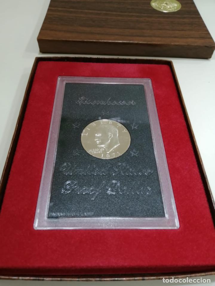 1 DÓLAR DE PLATA - EISENHOWER 1971 (IN GOD WE TRUST) - EEUU (UNITED STATES PROOF DOLLAR) (Numismática - Extranjeras - América)