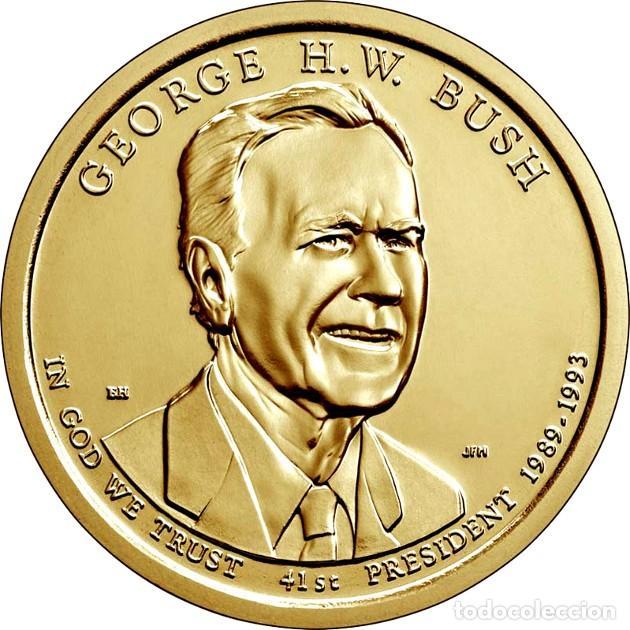 USA ESTADOS UNIDOS 1 DÓLAR 2020 P - PRESIDENTES 41º GEORG W BUSH (Numismática - Extranjeras - América)