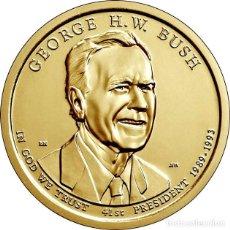 Monedas antiguas de América: USA ESTADOS UNIDOS 1 DÓLAR 2020 P - PRESIDENTES 41º GEORG W BUSH. Lote 233048945