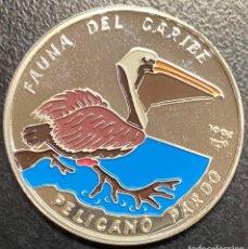 Monedas antiguas de América: CUBA, MONEDA DE PLATA DE 10 PESOS, TEMÁTICA FAUNA DEL CARIBE. Lote 233663685