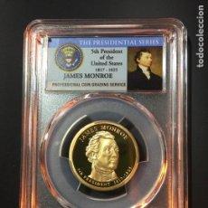 Monedas antiguas de América: MONEDA 1 DÓLAR ESTADOS UNIDOS EEUU - SERIE PRESIDENTES - JAMES MONROE - CERTIFICADA PCGS. Lote 233922075