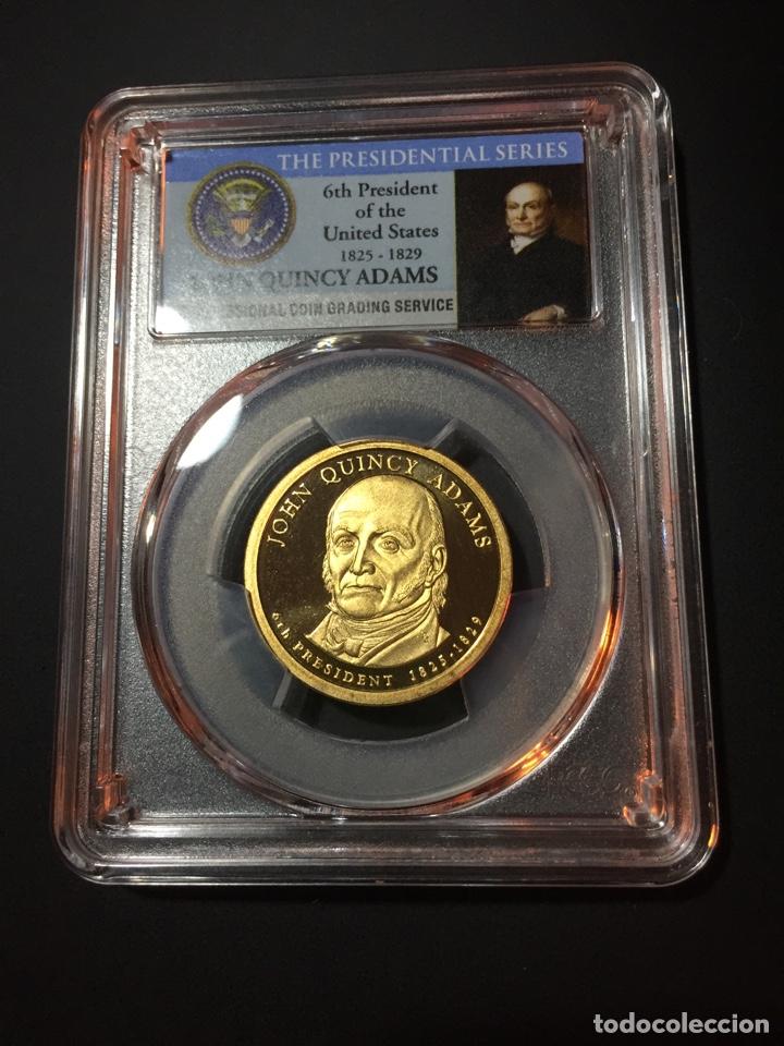 MONEDA 1 DÓLAR ESTADOS UNIDOS EEUU - SERIE PRESIDENTES - JOHN Q. ADAMS - CERTIFICADA PCGS DOLLAR (Numismática - Extranjeras - América)