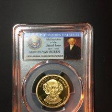 Monedas antiguas de América: MONEDA 1 DÓLAR ESTADOS UNIDOS EEUU - SERIE PRESIDENTES - MARTIN VAN BUREN - CERTIFICADA PCGS. Lote 233923195
