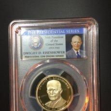 Monedas antiguas de América: MONEDA 1 DÓLAR ESTADOS UNIDOS EEUU - SERIE PRESIDENTES - EISENHOWER - CERTIFICADA PCGS DOLLAR. Lote 233923685