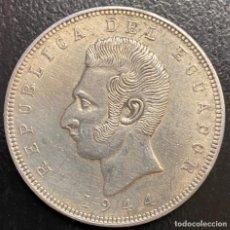 Monedas antiguas de América: ECUADOR, MONEDA DE 5 SUCRES DEL AÑO 1944. Lote 234432880