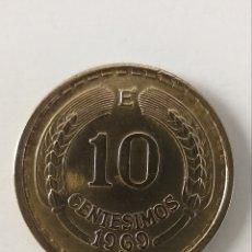 Monedas antiguas de América: 10 CENTÉSIMOS REPUBLICA CHILE 1969. Lote 234844835
