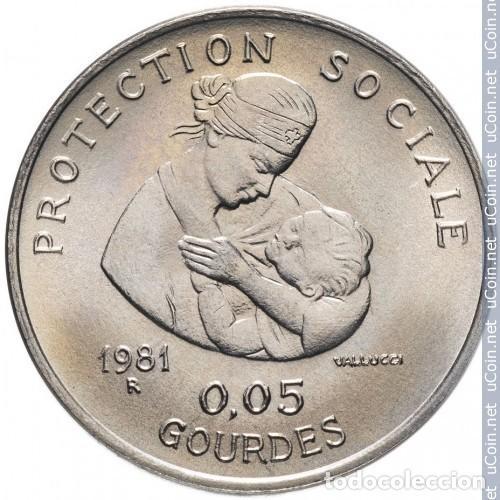 HAITI 0.05 GOURDES 1981 FAO SIN CIRCULAR (Numismática - Extranjeras - América)