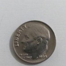 Monedas antiguas de América: MONEDA AMERICANA ONE DIME 1968. Lote 234985520