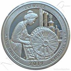 Monedas antiguas de América: USA: 25 CENTS PLATA 2019 S PROOF LOWELL - MASSCHUSETTS QUARTER DOLLAR. Lote 235299235