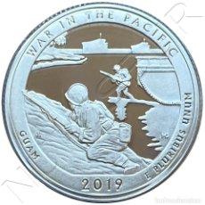 Monedas antiguas de América: USA: 25 CENTS PLATA 2019 PROOF WAR IN THE PACIFIC GUAM QUARTER DOLLAR. Lote 235300535