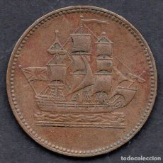 Monedas antiguas de América: CANADA - PRINCE EDWARD ISLAND SHIPS & COMERCE TOKEN MONEDA 1835. Lote 236057015